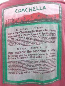 Coachella 1999 Concert Tee